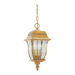 "Designers Fountain - Designers Fountain 1554-PVD-PB 10"" Hanging Lantern Solid Brass - Designers Fountain 1554-PVD-PB 10"" Hanging Lantern Solid Brass"
