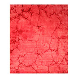 EORC - Handmade Wool Pink Dip Dyed Rug (5' x 8') - A modern take on traditional themes,this striking area rug boasts various shades of pink and rose. With each piece uniquely dip dyed by hand,this modern and sophisticated rug will re-invent any space.