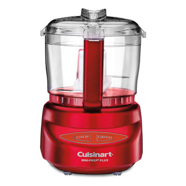 Cuisinart 3 Cup Mini Food Processor Metallic Red - The Cuisinart Mini-Prep Plus is the perfect little helper for small food preparation  from chopping herbs or bread crumbs  to finely grinding hard cheese. Its versatility lies in the special Auto Reversing Smart Blade  which makes it easier to process both soft and hard foods.  Designed in Italy with the same look as Cuisinart's newly launched PowerPrep Plus  the Mini-Prep Plus' sleek touch pad controls afford easy cleaning and an elegant look. And despite its space-saving size  it's more powerful than other choppers. So now you can prepare small quantities of food faster and more efficiently than ever before.  Product Features      Chop or grind at the touch of a button   24-Oz. (3 cup) work bowl with handle   Exclusive auto-reversing SmartPower blade for two powerful processing options   Touchpad controls are easy to use and easy to clean   Dishwasher-safe parts   Stainless steel blade with sharp and blunt edges   BPA Free   Limited 18-month warranty