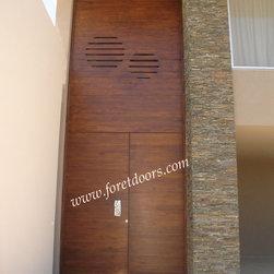 Modern contemporary entry doors - Contemporary solid wood grand entrance door