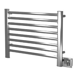 Amba - Ladder 29x21 Electric Heated Towel Warmer, Polished - • Dual-purpose radiator functions as towel warmer and space heater