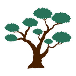 My Wonderful Walls - Large Tree 2 for Painting - - Large tree wall stencil