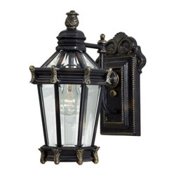 Minka-Lavery - Minka-Lavery Stratford Hall 1-Light Outdoor Wall Mount - 8937-95 - This 1-Light Wall Lantern has a Gold Finish and is part of the Stratford Hall Collection.