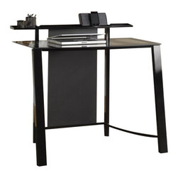 Sauder - Sauder Mirage Desk in Black and Clear Glass - Sauder - Student Desks - 411969