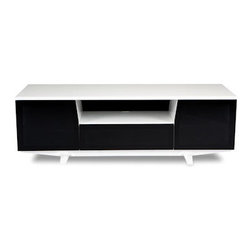 BDI - BDI Marina Home Theater System, Gloss White - The BDI Marina Home Theater System has a chic and modern look to compliment its utility. Equipped to house a media screen up to 70 inches, it also has wire management, adjustable shelves, hidden wheels, and ventilation.
