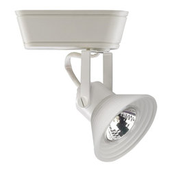 W.A.C. Lighting - W.A.C. Lighting Premium Low Voltage Track Light Fixture X-TW-668-THH - 866 Designed to provide a clean, crisp white halogen light, 120V Low Voltage Track Luminaires offer a wide variety of track head styles and designer metal finishes for a multitude of lighting applications in residential environments and a favorite in museums, boutiques and restaurants. High performance can be enhanced with color lenses shields and accessories. Features a translucent etched glass shade 350 degree horizontal rotation and 90 degree vertical aiming Die-cast aluminum construction. Use with a specialty frost back MR16G lamp to illuminate the shade with a soft white glow