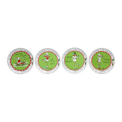 """ATD - 4.5"""" Christmas Holiday """"Ruby the Poodle"""" Serving Plates, Set of 4 - This gorgeous 4.5"""" Christmas Holiday """"Ruby the Poodle"""" Serving Plates, Set of 4 has the finest details and highest quality you will find anywhere! 4.5"""" Christmas Holiday """"Ruby the Poodle"""" Serving Plates, Set of 4 is truly remarkable."""