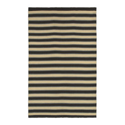 Rizzy Rugs - Solid/Striped Swing 2'x3' Rectangle Black Area Rug - The Swing area rug Collection offers an affordable assortment of Solid/Striped stylings. Swing features a blend of natural Black color. Flat Weave of New Zealand Wool Blend the Swing Collection is an intriguing compliment to any decor.