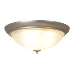 """AF Lighting - AF Lighting Essen Three-Light Flush Mount 18"""" Ceiling Fixture Chrome & Nickel - This is a brand new flush mount ceiling light from AF Lighting (model # 617507). Sleek. Stylish. Sublime. The Essen lighting collection redefines contemporary fashion and functionality in modern light fixtures. This ceiling fixture combines the classic look of polished chrome with the modern appeal of brushed nickel accents. Uses (3) 60-Watt medium base bulbs (not included). Ceiling fixture measures 18"""" W by 7"""" H. This light retails for $120.24."""