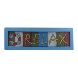 "Handcrafted Model Ships - Wooden Relax Nautical Plaque 24"" Coastal Decorating Style Beach Sign - New - I Feel the cool, crisp ocean breeze blow in off the Atlantic, the tolls of harbor and ship bells ringing out through the misty morning, and enjoy Handcrafted Nautical Decor's enchanting Nautical Themed Signs. Adorn your home with classic seafaring style, add to your collection of charming nautical treasures, or place this Wooden Relax Nautical Plaque 24"" aboard your very own vessel. With the perfect Nautical Themed Sign express your love of the sea, the freedom of the open ocean, and the timelessly serene ambiance of nautical life."