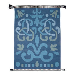 Gandia Blasco - Arabesco Wool Kilim Rug - Blue - Gandia Blasco - All of the modern rugs by Gandia Blasco are Goodweave certified and the perfect addition to any room in your home. Yarn composition: 100% new Wool. Designed by Sandra Figuerola.
