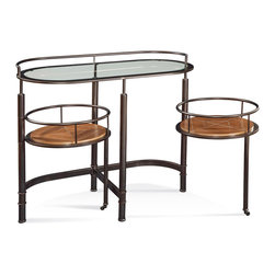 Bassett Mirror Company - Bassett Mirror Bar Cart - Bar Cart belongs to Contempo Collection by Bassett Mirror Company Bar Cart Bar Cart (1)
