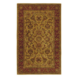 Ancient Treasures A111 Gold Rug - 8' Octagon - Ancient Treasures A-111 Gold: Traditional rugs inspired by Persian rugs, Antique Oriental rugs or other traditional area rugs are available now. ModernRugs. om is now also featuring traditional rug designs. Traditional Persian and Oriental rugs from ModernRugs. om are now available in a variety of colors and styles, and complement any space. Our traditional Persian rugs provide an elegant look. These Traditional antique Oriental rugs are timeless and add a touch of class to your home. This Persian area rug is Hand Tufted in India with 100% Semi-Worsted New Zealand Wool. The specific colors of this rug include Gold, Red, Olive Green, Chocolate, Rust, Moss Green. he primary color of this rug is gold.