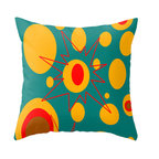 Crash Pad Designs - Crash Pad Designs Mod Throw Pillow - Oliver - In a burst of color and mod design, this pillow will add fun and sophistication to any sofa or armchair in your house. The bright, retro-inspired pattern is printed on both sides of this 100 percent spun polyester poplin fabric pillow, which features as hidden zipper closure and a polyester fill insert. This machine-washable pillow will keep your decor vivid and full of cushion!