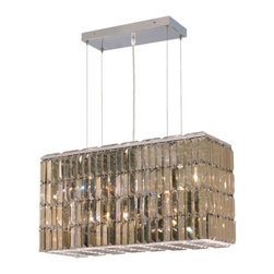 "PWG Lighting / Lighting By Pecaso - Chantal 8-Light 9"" Crystal Chandelier 6903D26C-GT-RC - The unique design of the Chantal Collection inspires any room setting. Dazzling spectacles of light sparkles throughout the fixture creating a modern, yet timeless beauty and elegance."