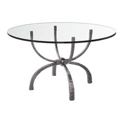 """Legacy 50"""" Round Dining Table by Charleston Forge - Dimensions:"""