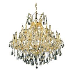 Elegant Lighting - Elegant Lighting 2801D36G/RC Maria Theresa Collection Hanging Fixture - Elegant Lighting 2801D36G/RC Maria Theresa Collection Hanging Fixture