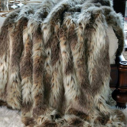 "Russian Lynx Faux Fur Throw - ""Russian Lynx"" Faux Fur Throw is part of the Limited Edition Series and a classic design. This timeless fake fur blanket feels like real fur due to its superb quality and outstanding fabrication. Throws have faux fur on the front and soft velvet on the back."