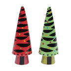 ATD - 4 Inch Red, Green and Black Zebra Striped Xmas Tree Salt and Pepper - This gorgeous 4 Inch Red, Green and Black Zebra Striped Xmas Tree Salt and Pepper has the finest details and highest quality you will find anywhere! 4 Inch Red, Green and Black Zebra Striped Xmas Tree Salt and Pepper is truly remarkable.