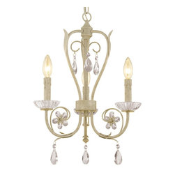 Crystal Flower Mini Chandelier 3 Light -
