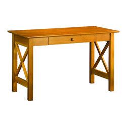 Atlantic Furniture - Atlantic Furniture Lexington Writing Desk in Caramel Latte - Atlantic Furniture - Writing Desks - AH12237 - The center piece of any true home office the Lexington Writing Table is the perfect mix of form and function.