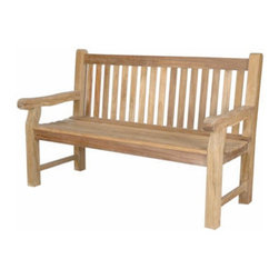 Anderson - Devonshire 3-Seater Extra Thick Bench - This classic Devonshire 3 seat Garden Bench is recommended by Anderson Collections for use in parks, malls, hotels, resorts, city sidewalks, or public squares