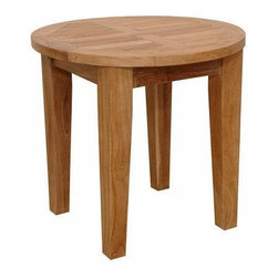 """Anderson Teak - Brianna 20"""" Round Side Table - The Brianna 20"""" Round Side Table is the perfect addition for your Patio. This Mini Side Table is simple, straightforward and sturdy. Strong enough to sit on, perfect for snack or functional table. Match with other Brianna Collections."""