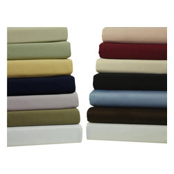 """Bed Linens - 550 Thread count Solid Sheets Egyptian cotton, King, Ivory - 550 Thread count Single-ply * 100% Egyptian cotton, Sateen Weave. * 4"""" Hemming with cording for the Flat sheet & Pillow cases * Fitted Sheet made with elastic All around for proper Fit. * Deep Pockets to fit up to 18"""" Mattress"""