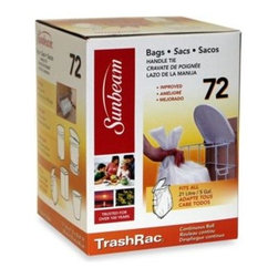 Prime Way Corporation - TrashRac 72-Count Bags - Always have a fresh bag ready with these extra-strong TrashRac garbage bags. Designed for maximum capacity with durable handle ties, these bags pass the test even in the busiest of kitchens. Fits all 5 gallon/21 liter wire racks.