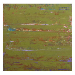 ecofirstart - Wish I Knew - This eco-friendly painting allows you to go green, literally. It's composed of repurposed acrylic paint that's rescued by the artist before it gets tossed. A one-of-a-kind original for your art collection, it's dated and signed on the back.