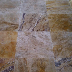 Autumn Blend Travertine - Autumn Blend Filled & Honed Travertine Tiles. Please visit www.stone-mart.com or call (813) 885-6900 for more information.