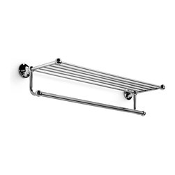 "WS Bath Collections - Venessia 52926 Towel Rack 25.6"" - Venessia by WS Bath Collections Towel Rack 25.6 x 9.1 in Polished Chrome"