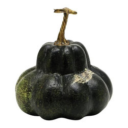 Home Decorators Collection - Faux Oblong Green Gourd - Add the look of autumn vegetables to your harvest decor with our Faux Oblong Green Gourd. Intricately designed and painted to look like the real thing, this home decor accent can be grouped with other artificial vegetables to create an autumn display you can use year after year. Crafted of resin. Painted latex finish.
