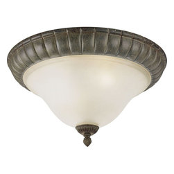 Progress Lighting - Progress Lighting Maison Orleans Traditional Flush Mount Ceiling Light - From the Maison Orleans Collection, the subtle blend of American and French styling creates a regal look to this Progress Lighting flush mount ceiling light. This traditional ceiling light features a Fieldstone finish that emphasizes the unique blend of details while an etched jasmine mist casts an inviting glow.