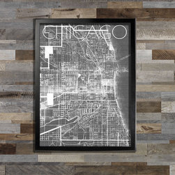 Chicago Map - 18x24in print. Frame (not) included.