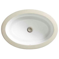 Porcher Marquee Petite Undercounter Bathroom Sink in White-12090-00.001 at The H