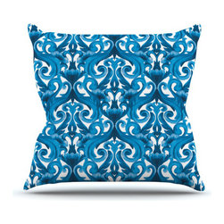 Waves of Blue Pillow - Art can be found in the most unusual places, including on your sofa or bed. Relax with this artistic pillow designed by Aimee St. Hill. The interlocking blue pattern is a creative statement in any space.