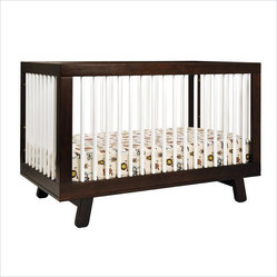 Babyletto Hudson 3-in-1 Convertible Crib in Two-Tone Espresso & White