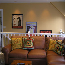 Contemporary Family Room by Designing Solutions