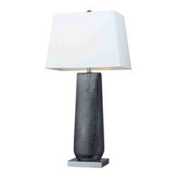 Dimond Lighting - Dimond Lighting D2237 Milan Black Pearl Table Lamp - Dimond Lighting D2237 Milan Black Pearl Table Lamp