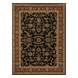"""Loloi Rugs - Loloi Rugs Stanley Collection - Black / Rust, 3'-9"""" x 5'-6"""" - The magnificent Stanley Collection features modern interpretations of the most sophisticated hand knotted designs. Recreated in Egypt with power loomed technology these gorgeous polypropylene area rugs offer an affordable alternative."""