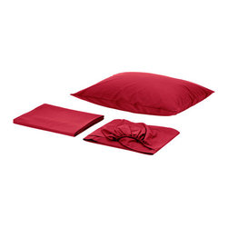 SÖMNIG Sheet set - Sheet set, dark red