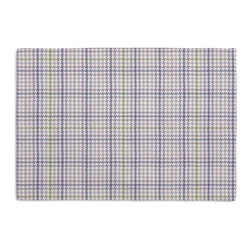 Lavendar Small Houndstooth Custom Placemat Set - Is your table looking sad and lonely? Give it a boost with at set of Simple Placemats. Customizable in hundreds of fabrics, you're sure to find the perfect set for daily dining or that fancy shindig. We love it in this lavendar purple & lime green classic houndstooth so cute it will give you a sweet tooth.