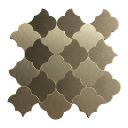 """GL Stone - Morocco Silver Aluminum Mosaic Tile 11"""" X 11"""" , Dark Silver, 1 Carton ( 22 Sheet - Morocco Aluminum Mosaic Tile with strong glue backing which is no need to grout and easy installation. That would be the great way to save time and cost. The aluminum tile is 11""""  X 11""""  sheet for kitchen backsplash, shower walls or any interior decor project. The dark silver color is the perfect choice to upgrade the fashion sense of commercial and residential spaces."""