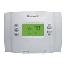 Honeywell Consumer - 5-1-1 Thermostat - Program each day differently - up to 4 periods per day. Energy Savings - Program to save up to 33% on annual heating and cooling costs (if used as directed. Savings may vary depending on geographic region and usage). Basic operation keeps programming simple. Backlit display. Early start function, precise temperature control of (+/- 1-degree F) for maximum comfort. Display Options - degree C or degree F temperature - 12 or 24 hour clock. Compatible with heating and cooling plus heat pump systems. Does not work with electric baseboard heat (120-240V) and multi-stage heating/cooling systems. This item cannot be shipped to APO/FPO addresses. Please accept our apologies