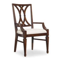 Hooker Furniture - Palisade Splat Back Chair - Set of 2 - Arm - White glove, in-home delivery!  For this item, additional shipping fee will apply.  Palisade offers modern style based on traditional design and a contemporary flair with classic beauty.  Taupe fabric.
