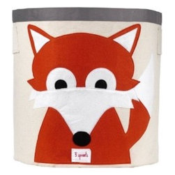 3 Sprouts Storage Bin, Orange Fox - I know I could always use more storage in my home, so why not make it fun with this fox storage bin?