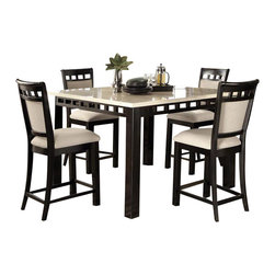 Standard Furniture - Standard Furniture Gateway White 5-Piece Counter Dining Room Set - Impressive proportions and bold styling give Gateway Dining a dynamic contemporary personality.