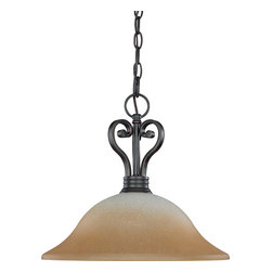 Nuvo Lighting - Nuvo Lighting 60-2748 Montgomery 1-Light Hanging Dome with Champagne Linen Glass - Nuvo Lighting 60-2748 Montgomery 1-Light Hanging Dome with Champagne Linen Glass