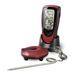 Oregon Scientific - Talking BBQ Thermometer - Grill Right Wireless Talking BBQ/Oven Thermometer--We'll let you know when your BBQ is ready from a football field away!